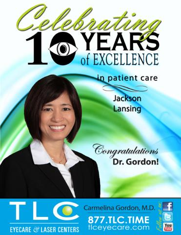 Dr. Gordon Celebrates 10 years of Excellence